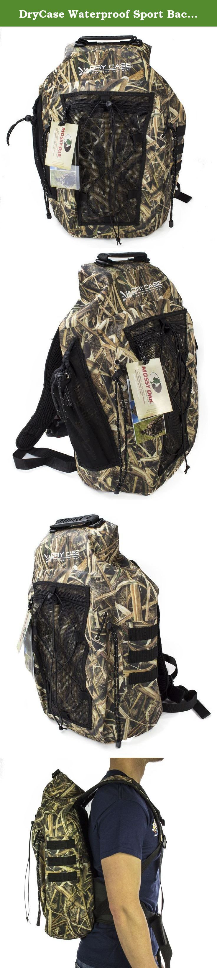 DryCase Waterproof Sport Backpack, 35 L, Camo. The Brunswick is the first ever waterproof backpack featuring Mossy Oak camouflage Shadow grass blades camouflage. It is perfect for toting all your hunting essentials and offers complete concealment in the pit, blind or boat. The Brunswick features a two way purge valve located on the bottom of the bag allowing you to squeeze out any air trapped inside or fill the bag with air to make it float. The two-way valve even doubles as a draining…