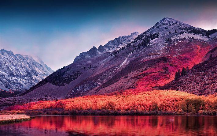 Download wallpapers Sierra Nevada, 4k, mountains, autumn, USA, America