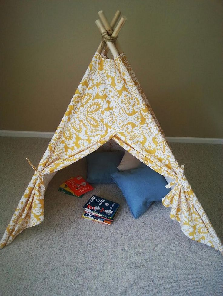 indianer tipi zelt f rs kinderzimmer selber bauen. Black Bedroom Furniture Sets. Home Design Ideas