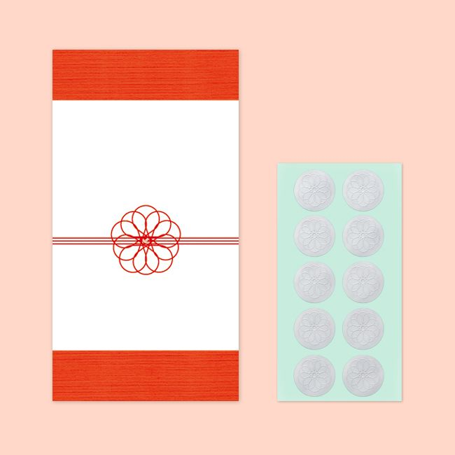 結婚式のお心付け・お車代封筒に最適!多目的ポチ袋(華結び)10枚1セット(シール付き)|ペーパーアイテムならPIARY(ピアリー)