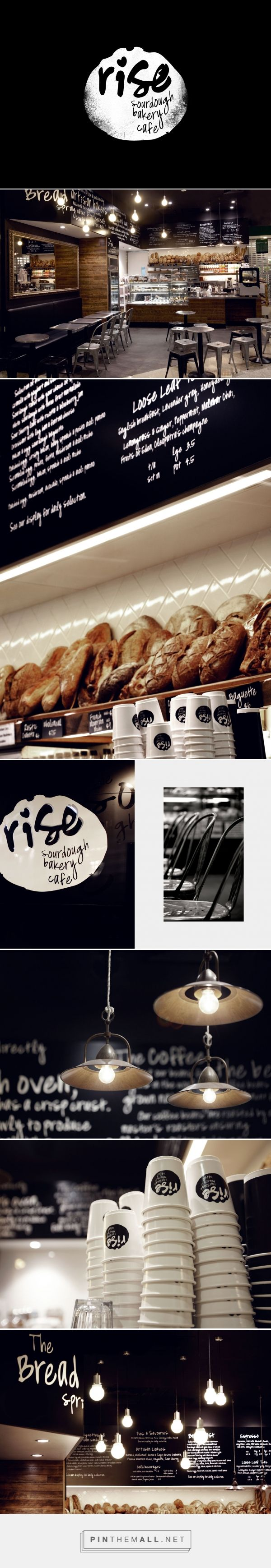End of Work —  Rise Bakery Brand identity and interior - created via…