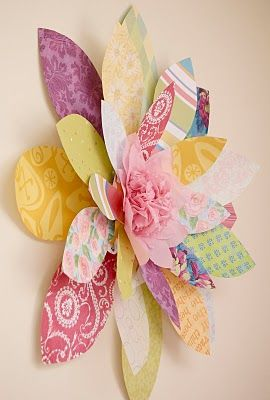 DIY scrapbook paper flower. So cute!