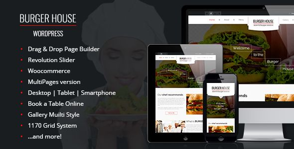 BurgerHouse — Restaurant Wordpress Theme