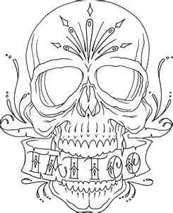 Sugar Skull Coloring Page  Pages  Pictures IMAGIXS