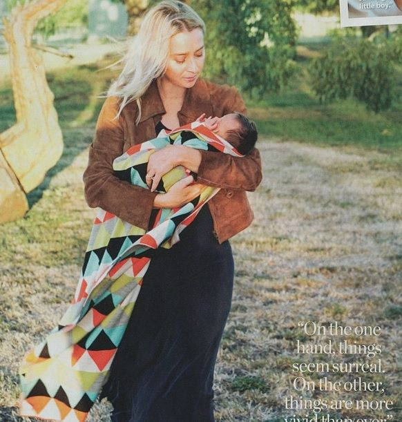 Asher Keddie with her little bambino Valentino;)