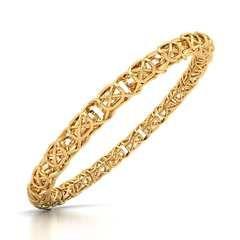 Lattice Gold Bangle