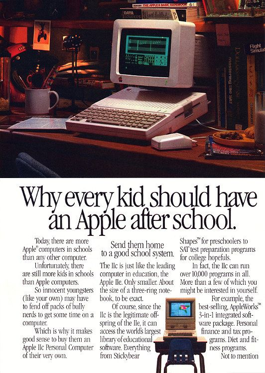 Apple IIc advertisement
