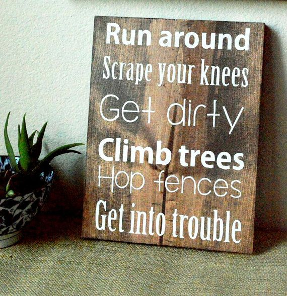Hand painted wood sign Sandlot quote for little boys room!