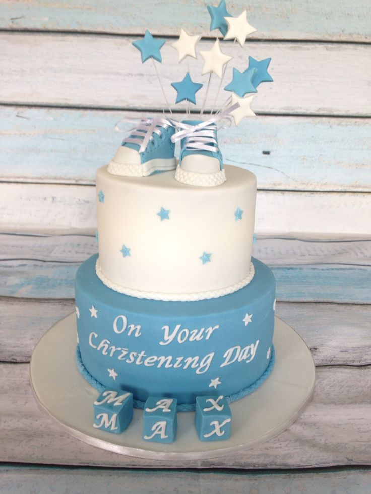Christening cake for a little boy