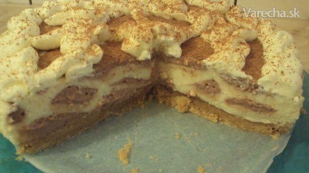 Pudingovo-tvarohová torta, nepečená (fotorecept)