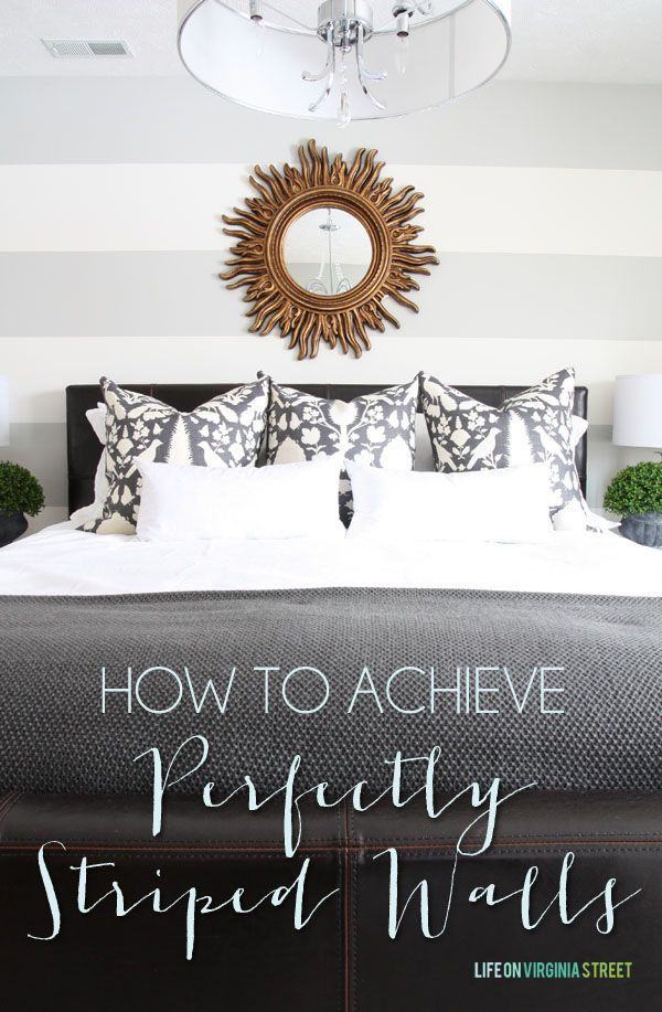 How To Achieve Perfectly Painted Striped Walls Tutorial - Life on Virginia Street #ad