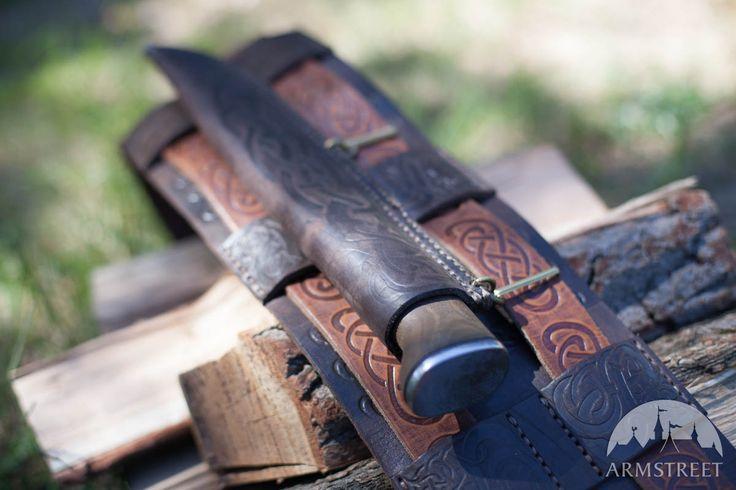 Wikinger Kampfgürtel aus geprägtem Leder