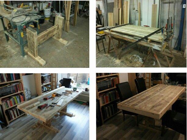 Reclaimed wood dinner table.