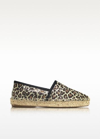 MARC JACOBS Sienna Gold & Multicolor Animal Print Espadrilles. #marcjacobs #shoes #espadrille