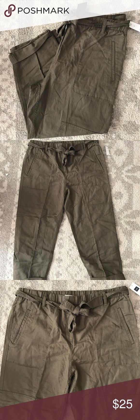 Gap Karate Pant New Army Green NWT. No flaws just a little wrinkly from storage. GAP Pants Ankle & Cropped