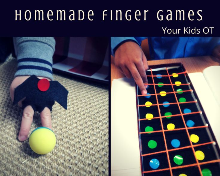 Homemade finger games! Finger Soccer and a Finger Obstacle Course. Your Kids OT