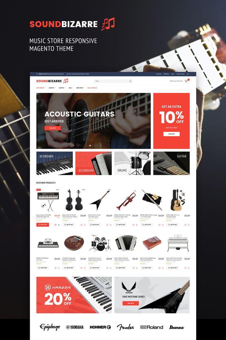 SoundBizarre - Music Store Magento 2 Theme