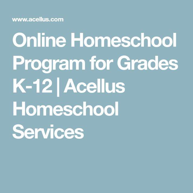 Online Homeschool Program for Grades K-12 | Acellus Homeschool Services