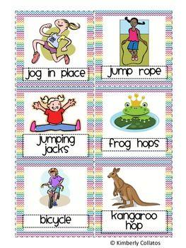 Movement Cards to Practice Spelling Words - Kimberly Collatos - TeachersPayTeachers.com