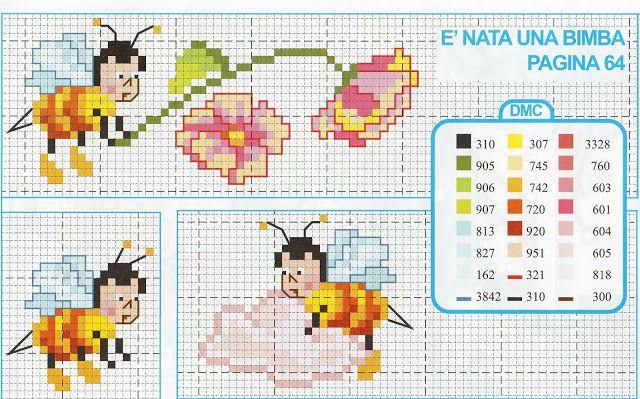lo spazio di lilla: A gentile richiesta...Disegni a punto maglia e punto croce per il bebè di Beatrice