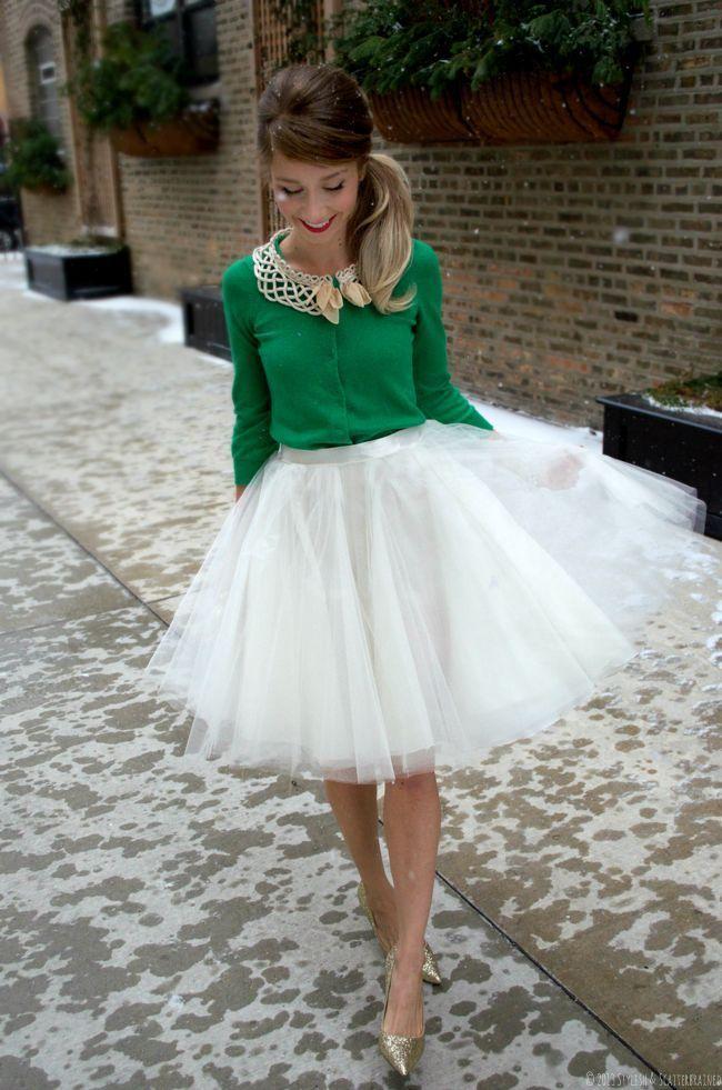 Saia de Tulle com classe e estilo. Visual moderno para Mulheres Com Atitude http://mulherescomatitude.vai.la