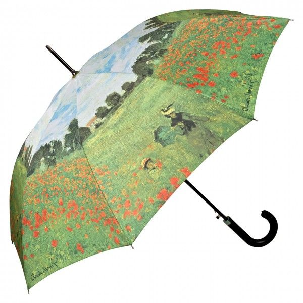 Motivschirm Automatik Claude Monet Mohnblumenfeld Regenschirm Regenschirm Kunst Claude Monet