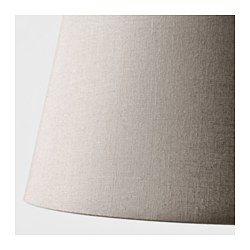 IKEA - JÄRA, Lamp shade, grey, 23 cm, , Create your own personalised pendant or table lamp by combining the lamp shade with your choice of cord set or base.You can create a soft, cosy atmosphere in your home with a textile shade that spreads a diffused and decorative light.