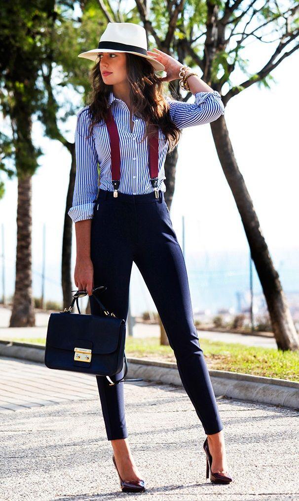 Office Style // A chic masculine-type office wear.