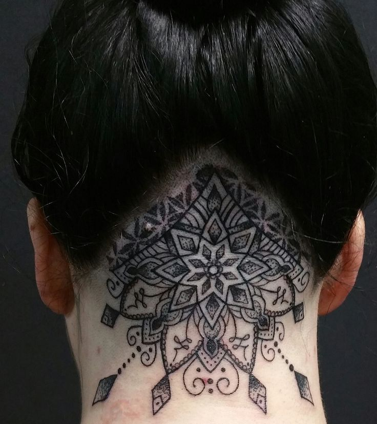 Tattoo by Jocelyn McGregor at Old Republic Tattoo in Sacramento. Back of my own head.