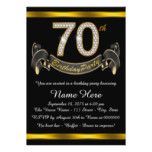 70th Birthday Party Card, zazzle.com