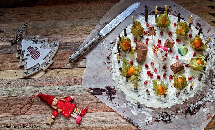 torta veloce di Natale al cioccolato e panna (3)