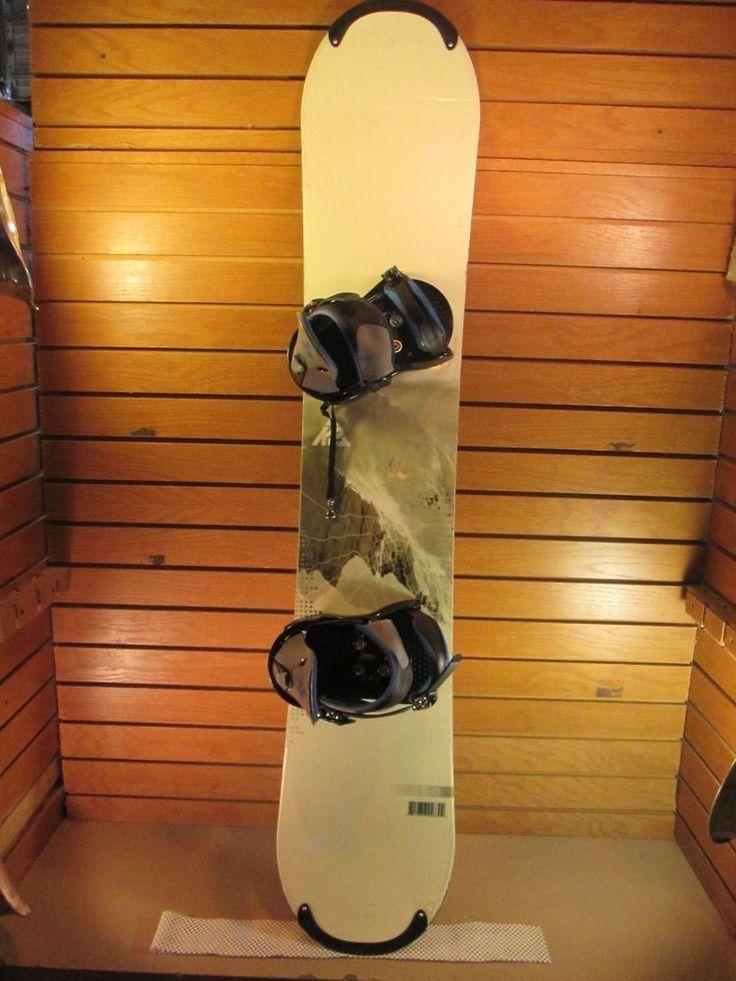 K2 Snowboard 150 cm , Burton Bindings fits 4-9.5 Mens or 5-10 Womens - Lot 653 #K2