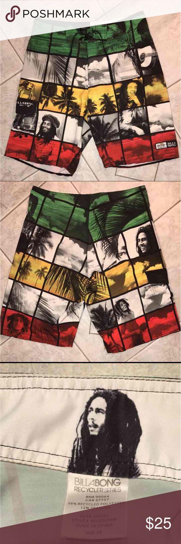 Bob Marley men's swimsuit Worn a few times still in great condition Billabong Swim Board Shorts