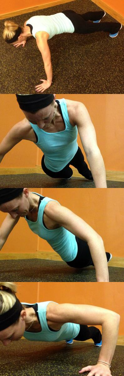 This plank-and-push-up exercise for swimmers strengthens the body for more powerful propulsion through the water.