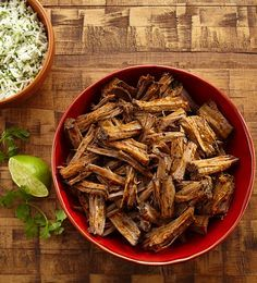 Slow Cooker Beef Barbacoa — use this tender, juicy and flavorful meat in tacos, sandwiches and burritos.