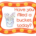 Bucket filling heading and name cards