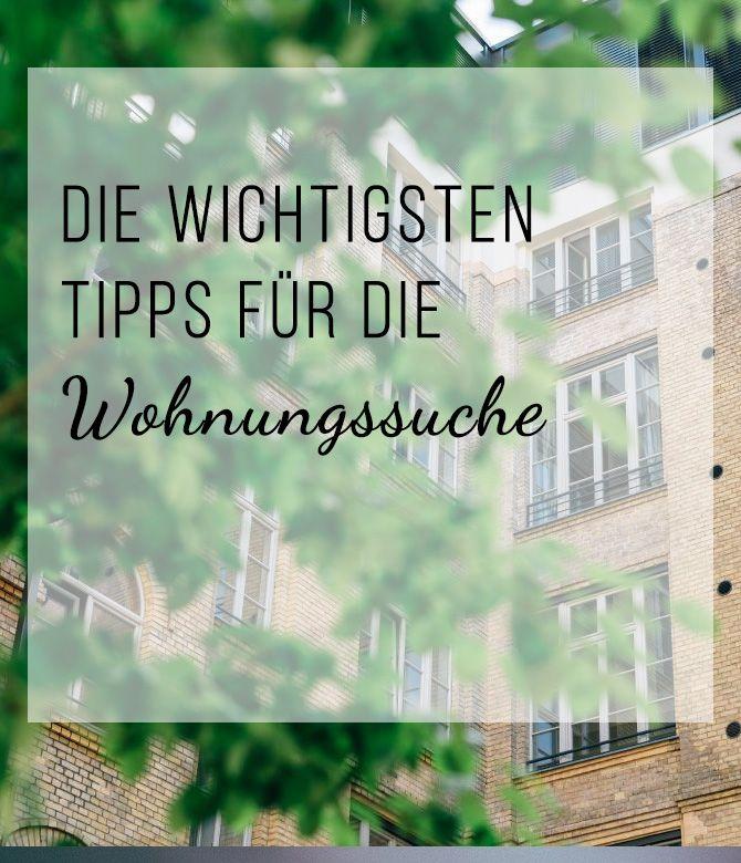 Die wichtigsten Tipps für die Wohnungssuche