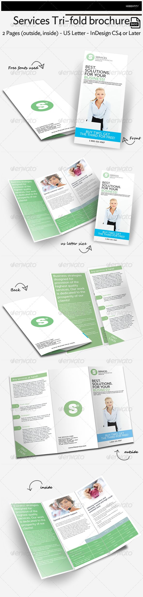 17 best images about brochure inspiration on pinterest for Tri fold brochure template indesign cs6