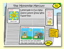 get real + lemonade stand - online games that teach about money and economics