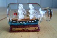 Mini Buddelschiff Brigg 'Hamburg'