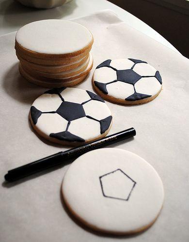 Soccer ball cookie tutorial/// galletas pelota de soccer