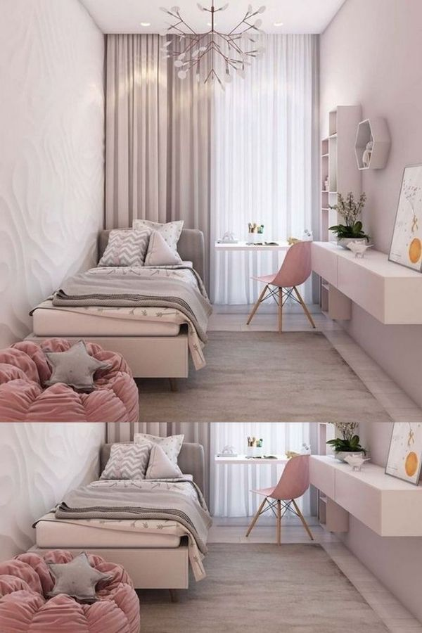 26 Small Bedroom Ideas For Couples Teenage Girl Boy On A Budget Small Room Bedroom Small Room Design Small Bedroom