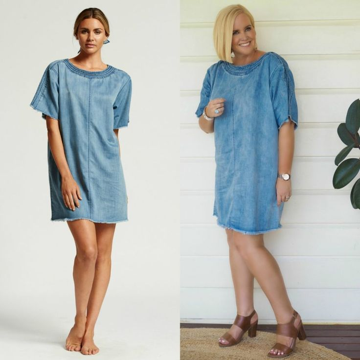 The Model and Me - Bohemian Traders denim 2017 collection - Nikki Parkinson wears the denim shift dress