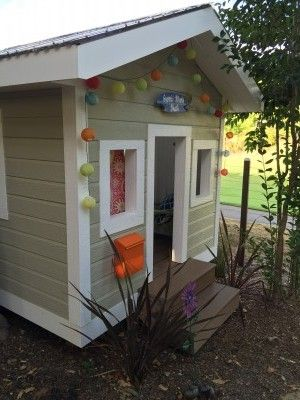 Outdoor Playhouse for a Boy and a Girl, they call it their SHACK | Nitsy Books