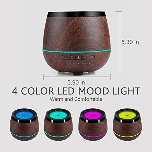 Essential Oil Diffuser With Speakers Aromatherapy Bluetooth Led Player Room Mist #PerfectHomeSavings