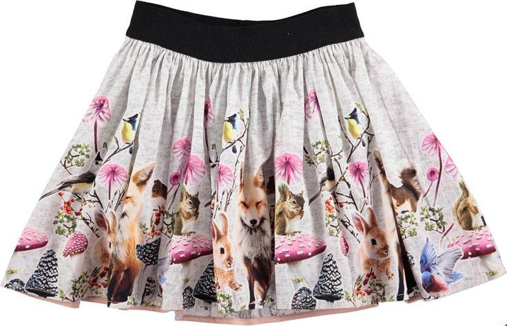 Molo Bonnie - Little Creatures Border 2017 - kjol med djurtryck - molo