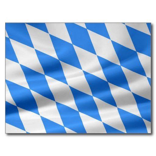 Weiß-Blaue bayerische Flagge Postkarte #sold on #Zazzle
