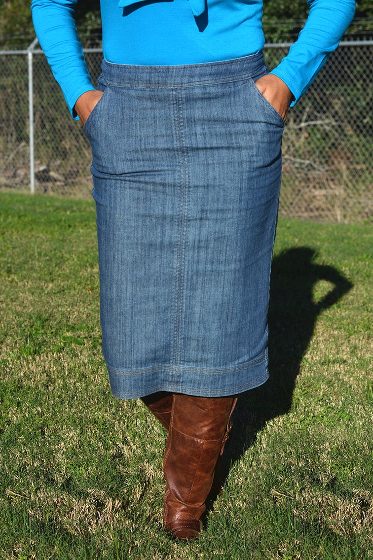 'Bree' Denim Skirt - Jade Mackenzie Modest Apparel
