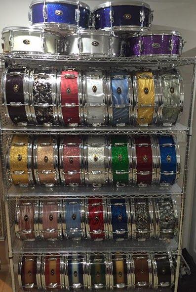 Slingerland 6 lug snare drum collection