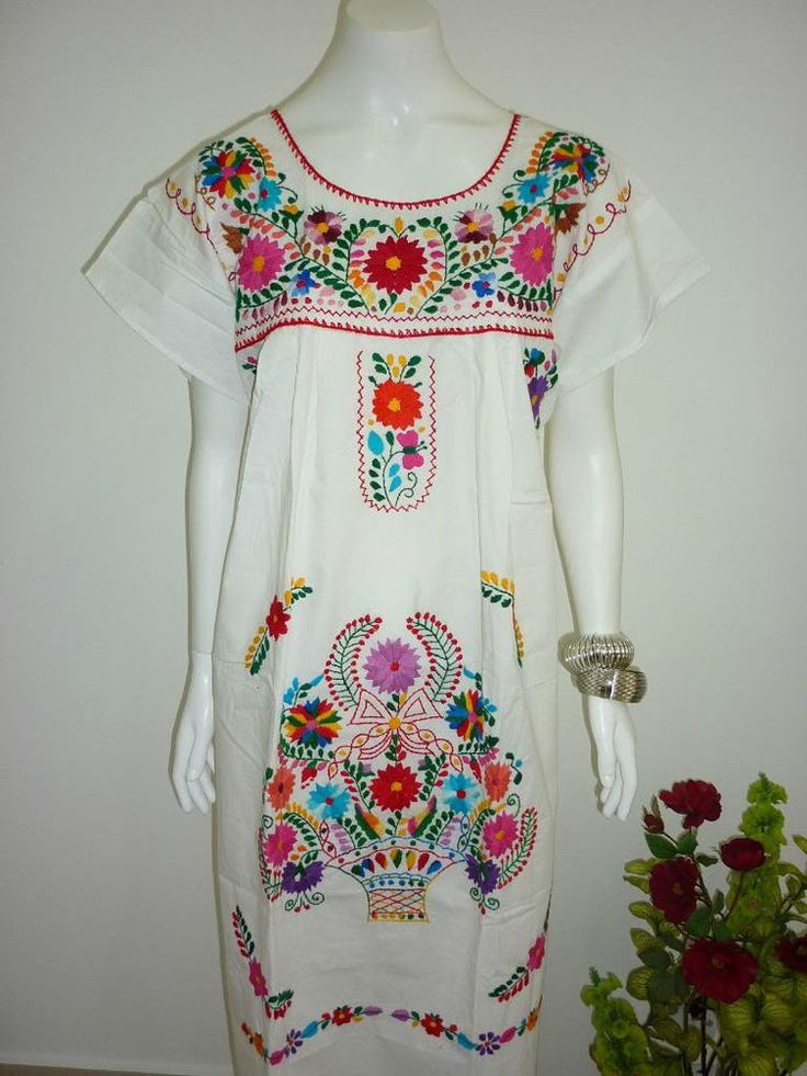 Details about any color peasant vintage tunic embroidered